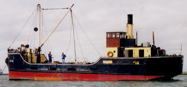 VIC 56 at Sheerness in the Medway estuary in 2001. Photo J. Packer.